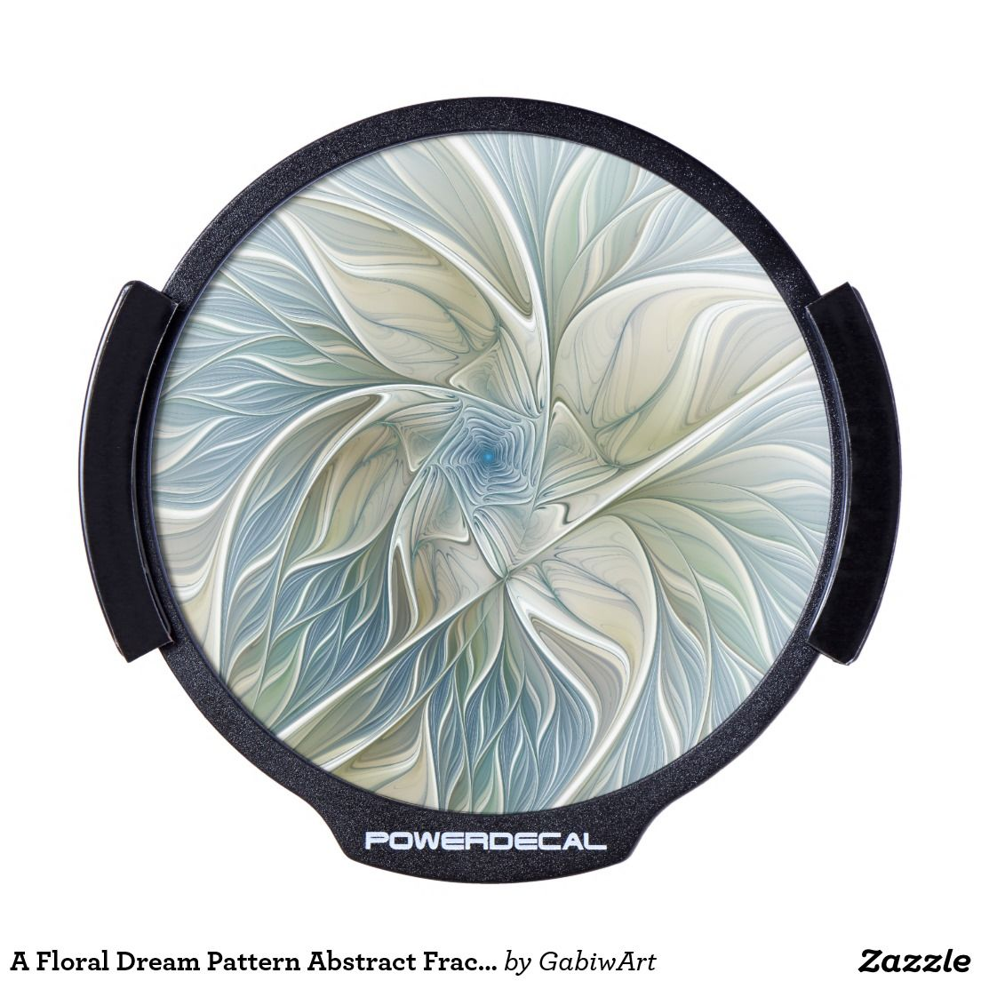A Floral Dream Pattern Abstract Fractal Art LED Window Decal