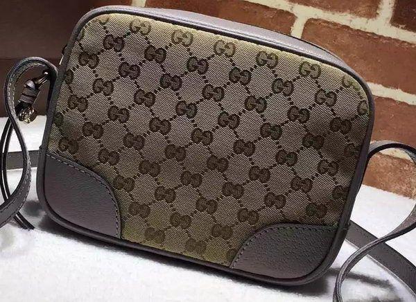 8c9d894a6573 Gucci Bree Original GG Canvas mini Messenger Bag 387360 Grey   Gucci ...