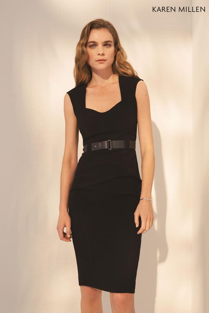 46739ee9043 Womens Karen Millen Black Elongated Investment Dress - Black ...