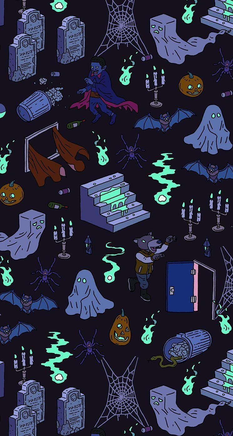 Halloween Pattern by Tatsushi Eto. illustration drawing
