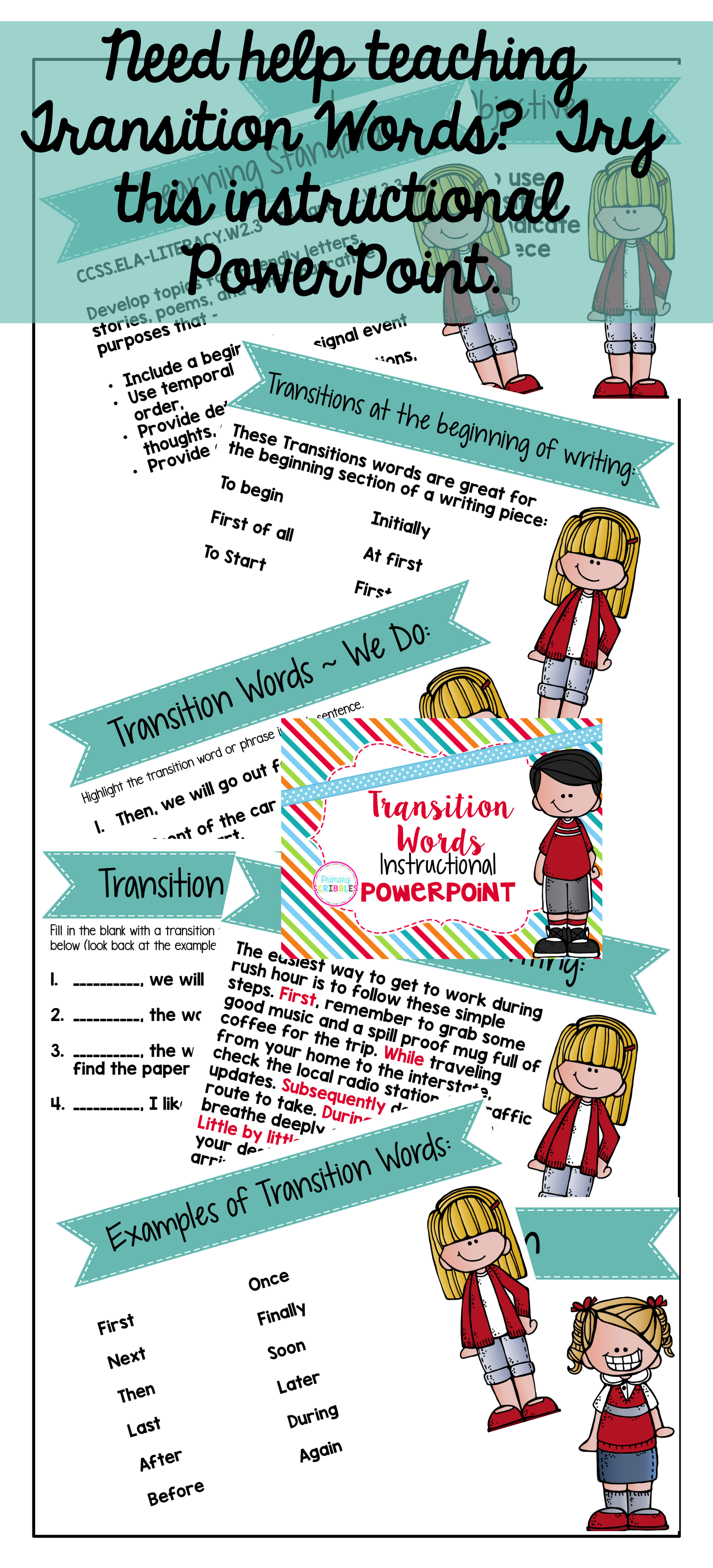 Transition Words Instructional Powerpoint