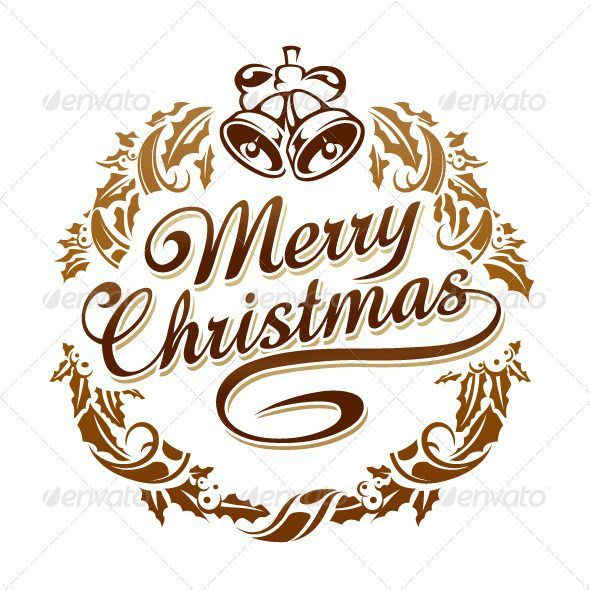 Typography christmas typography merry christmas greeting card font