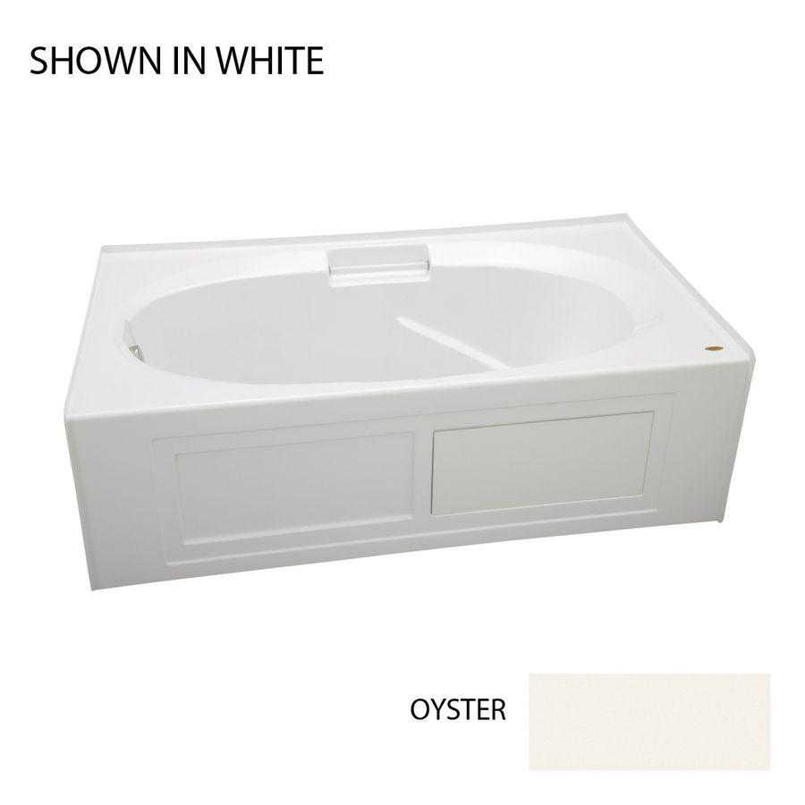 Jacuzzi Nova Oyster Acrylic Oval In Rectangle Skirted Bathtub With ...