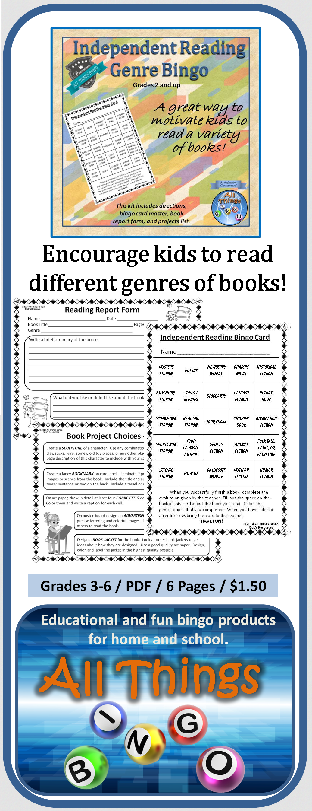 The Independent Reading Bingo Activity Was Designed To