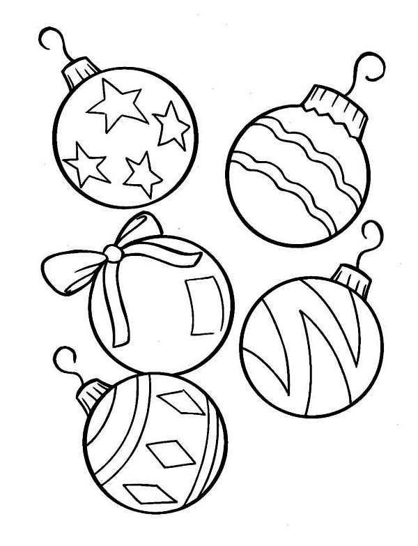 Christmas Ornaments Coloring Sheets (With images ...