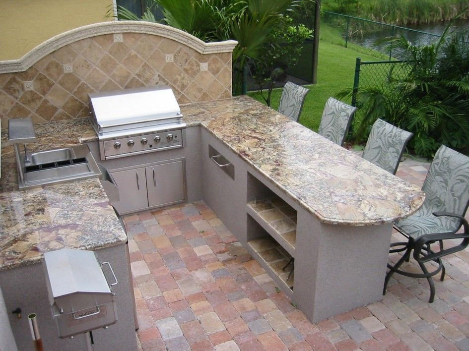 Backsplash Outdoor Kitchen Google Search