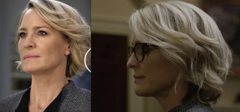 Robin Wright Claire Underwood Haircut 2017 House Of Cards Season 5 Frisuren Kurzhaarfrisuren Bob Frisur