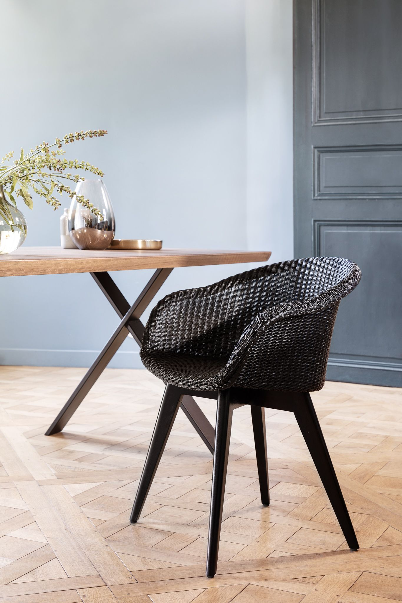 The Avril Dining Chair With Black Wood Base By Vincent Sheppard Is