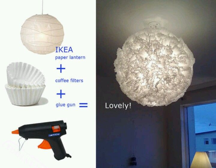 Coffee Filter Paper Lantern With