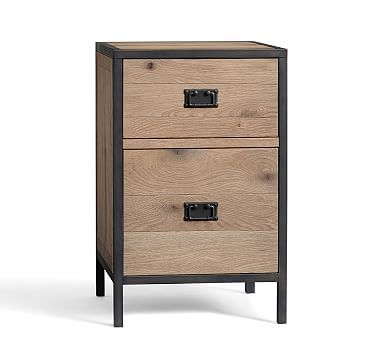 Lincoln 2 Drawer File Cabinet #potterybarn