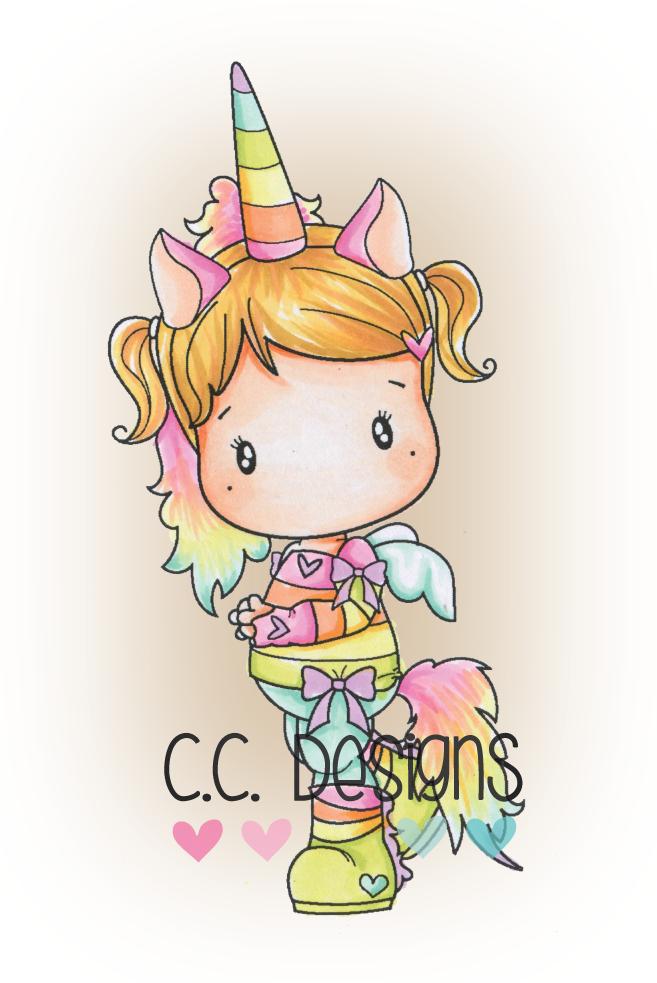 C.C. Designs Unicorn Lucy www.papercrafts.ch