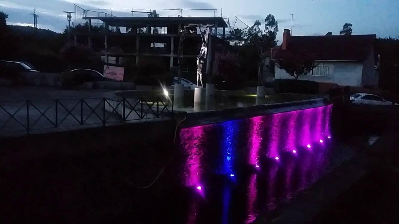 Mondariz (PO)fuente luminosa sobre el río