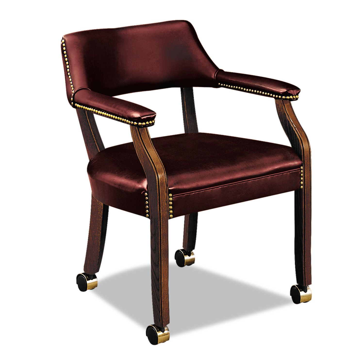 HON Series Guest Arm Chair with Casters Brown Products