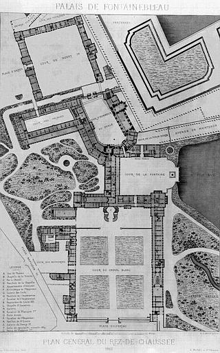 Château De Fontainebleau Ground Floor Plan Rez Du Chaussée (ground Floor),