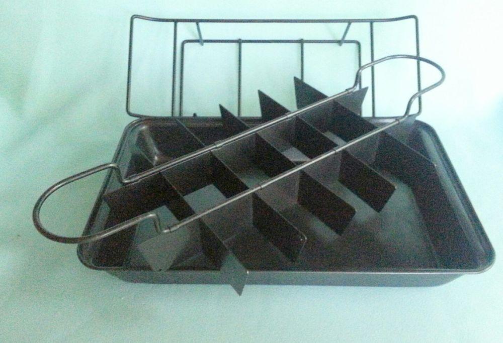 Brownie Baking Pan 4pc Divided Cornbread Cake Non Stick Pan
