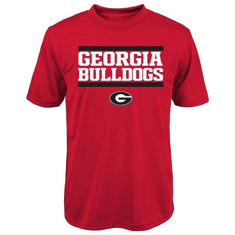 Boys 8-20 Georgia Bulldogs Performance Tee, Boy's, Size: