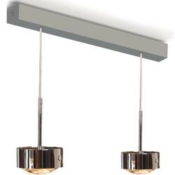 Photo of Top Light Puk Maxx Choice Long One Pendelleuchte 2 Köpfe nickelmatt 45cm Led Top Light