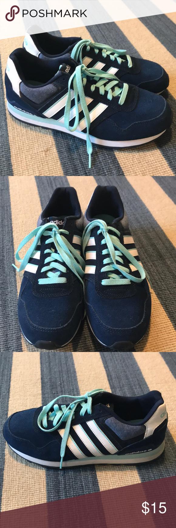 Adidas Neo Label Blue/White Sneakers, Ortholite   Adidas neo label ...