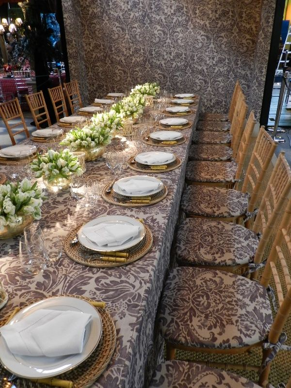 DIFFA Dining by Design. Pattern is Montrose in Amethyst.