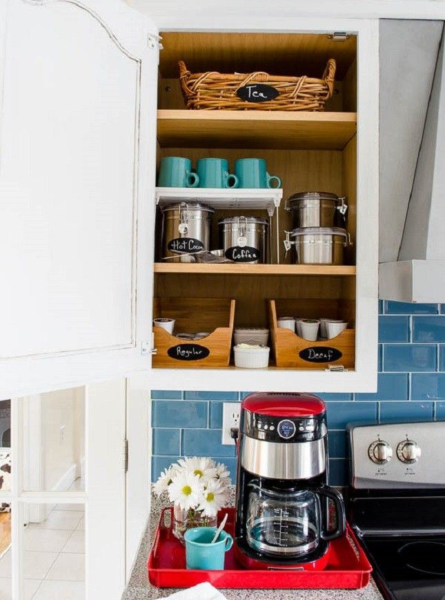 13 Storage Ideas For Coffee And Tea Lovers Coffee Cabinet