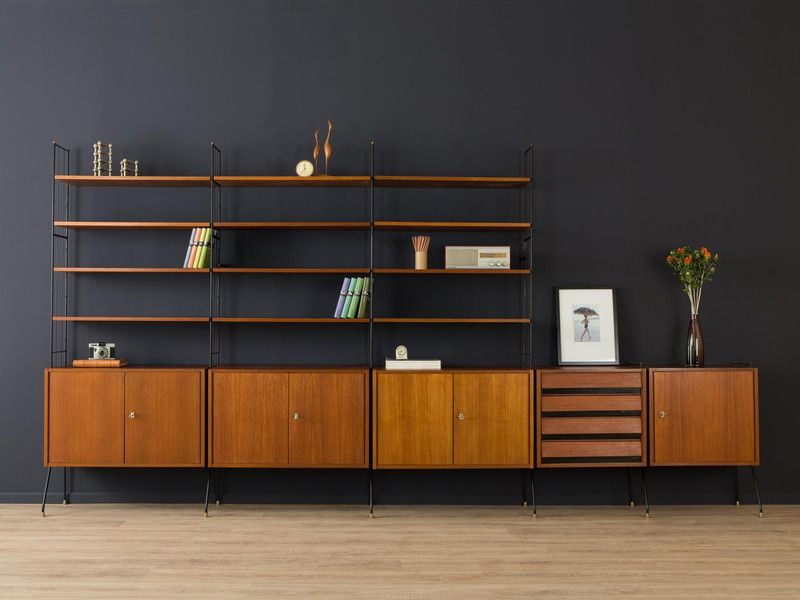 hochwertiges regalsystem hellerau wandregal 50er von mid. Black Bedroom Furniture Sets. Home Design Ideas