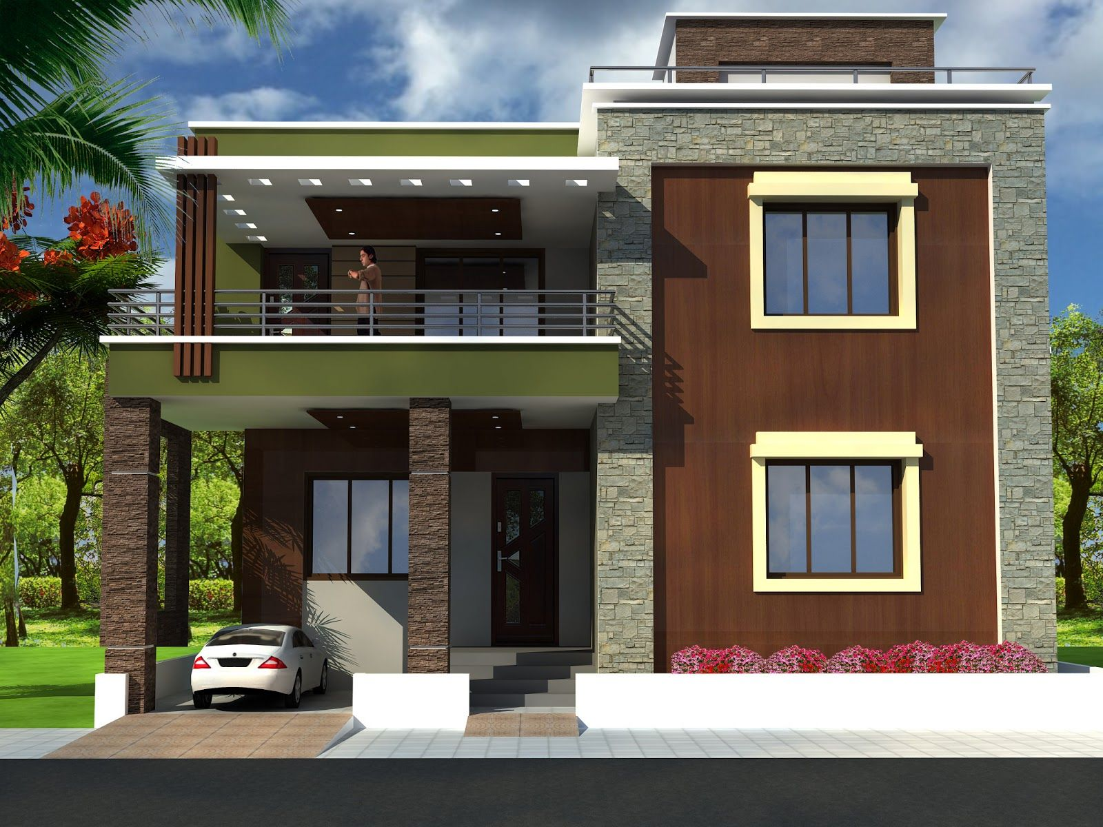 Wonderful Exterior House Design  Front Elevation