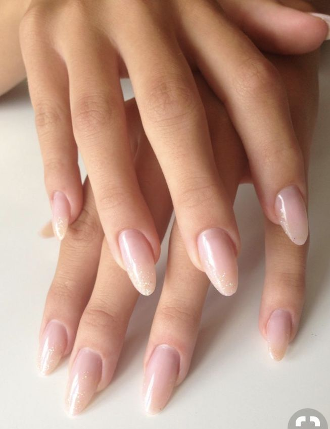 Nice Color And Shape Oval Nails Trendy Nails Natural Looking Acrylic Nails