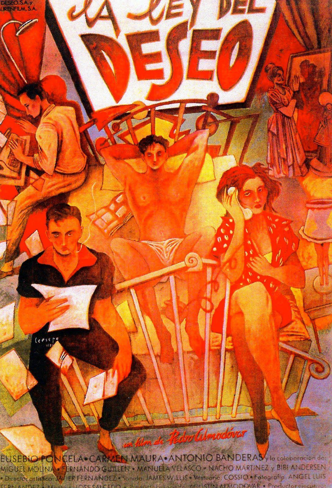 La Ley Del Deseo 1987 Carteles De Cine Carteleras De Cine Cine