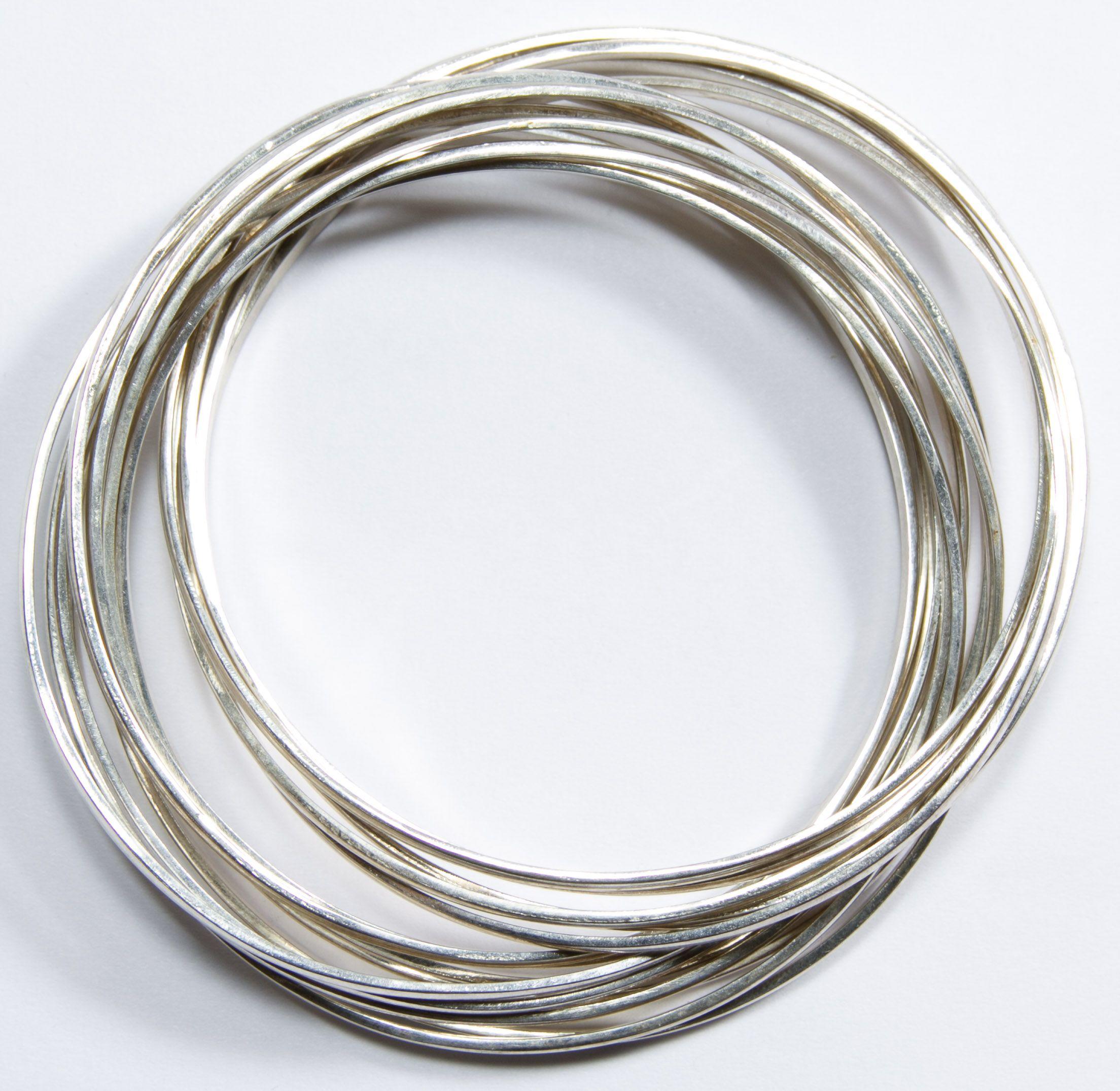 Silver Band Bracelet: Lot 528: Tiffany & Co. Sterling Silver Multi-Band Bangle