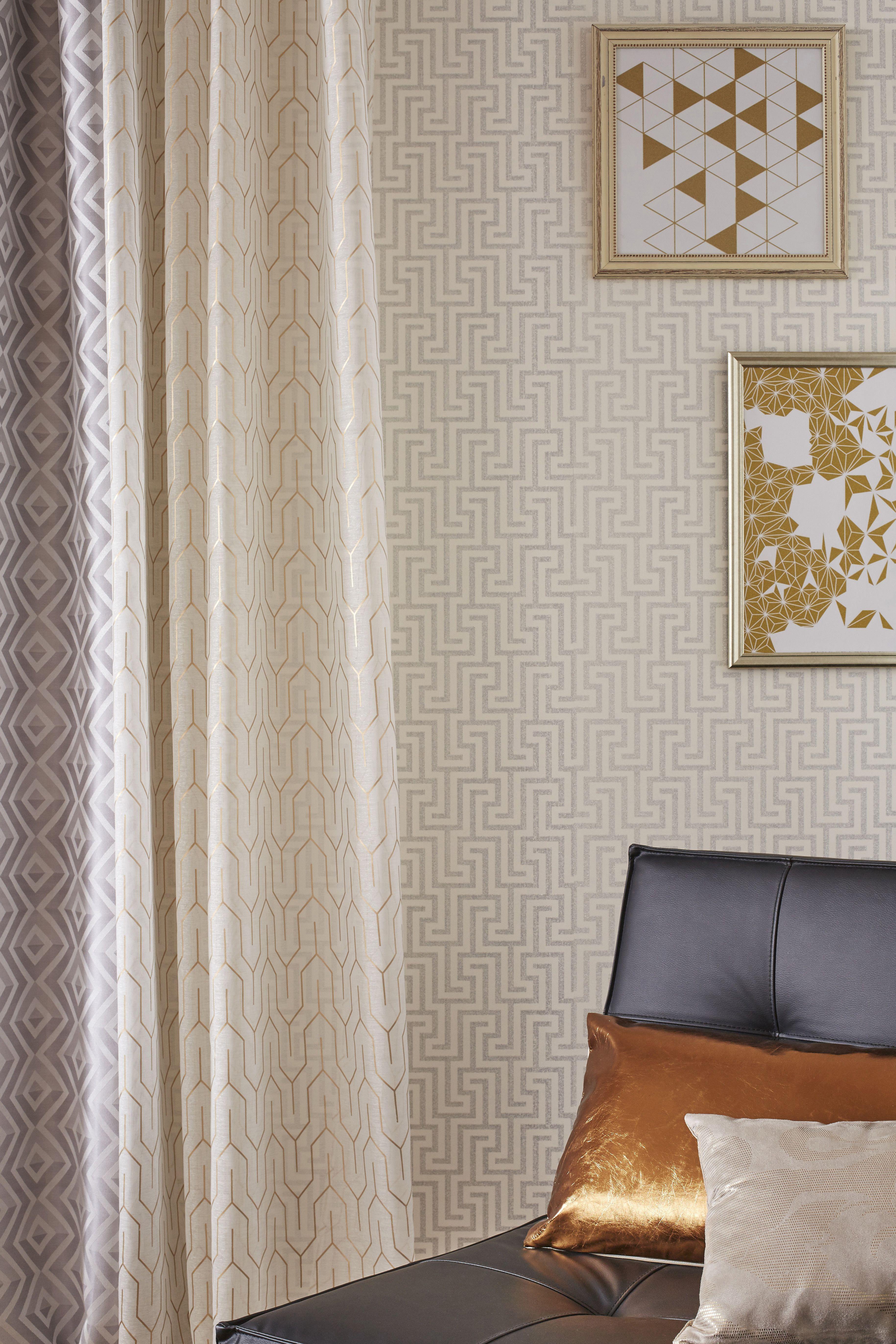 rideau tamisant arty gris l 140 x h 250 cm pour un salon cosy leroymerlin tendance salon rideau tendances deco salon vie confortable salle de sejour
