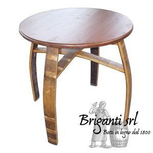2324 tavolo a doghe con piano 80x120 cm codice 040 t for Botti in legno per arredamento