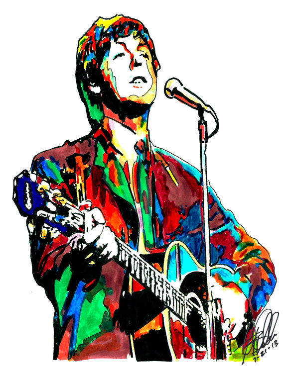 paul mccartney the beatles bass player yesterday singer vocals rock poster from original. Black Bedroom Furniture Sets. Home Design Ideas