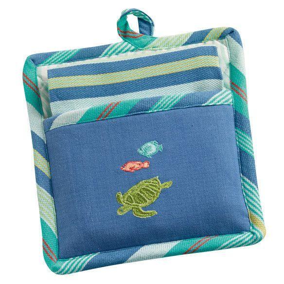 Turkey Potholder Dish Towel Gift Set Dish Towels Pot Holders