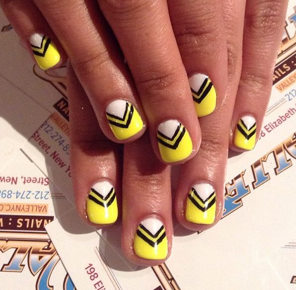 Black and Yellow nails by Valley NYC | Nailed it | Pinterest ...