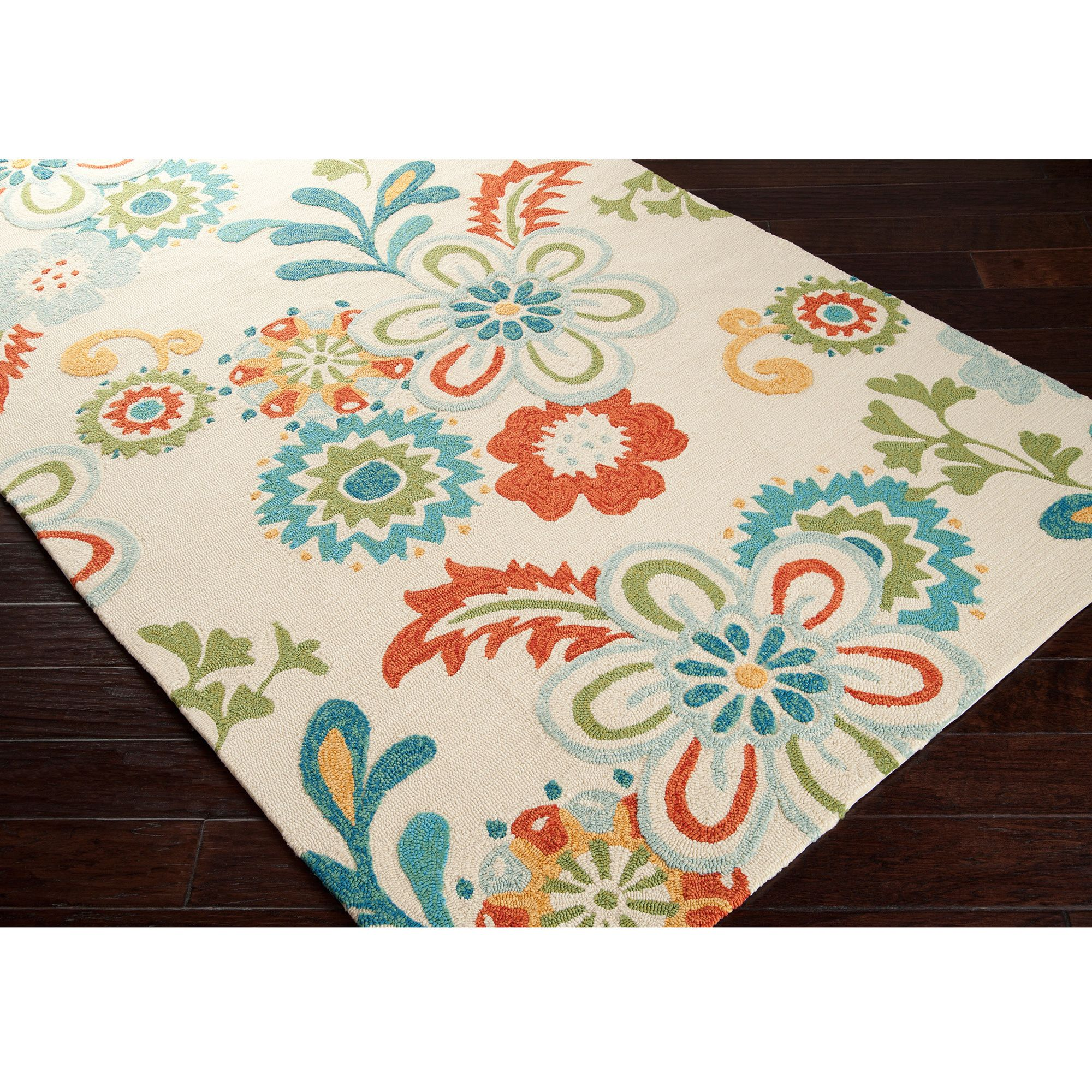 Hand-hooked Kim Transitional Floral Indoor/ Outdoor Area Rug (3'3 x 5'3) | Overstock.com Shopping - The Best Deals on 3x5 - 4x6 Rugs