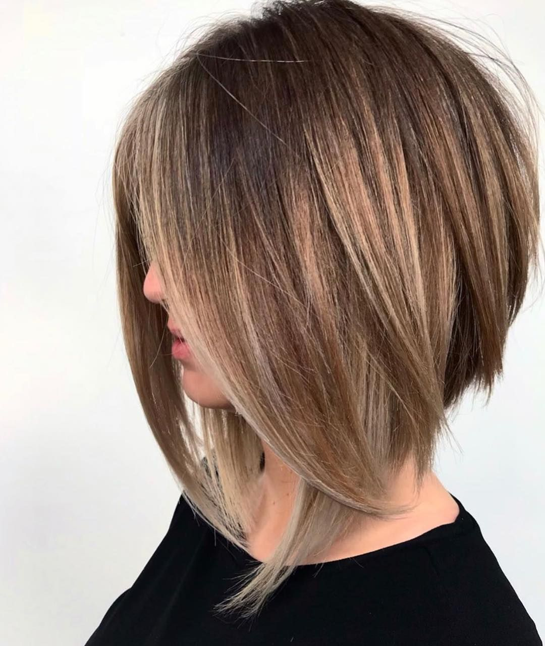 Perfect Beautiful Barrell Looks Haircut For Thick Hair Angled Bob Hairstyles Angled Bob Haircuts