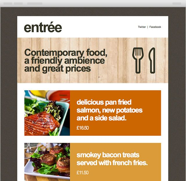 Super Things. Entrée HTML Email template.