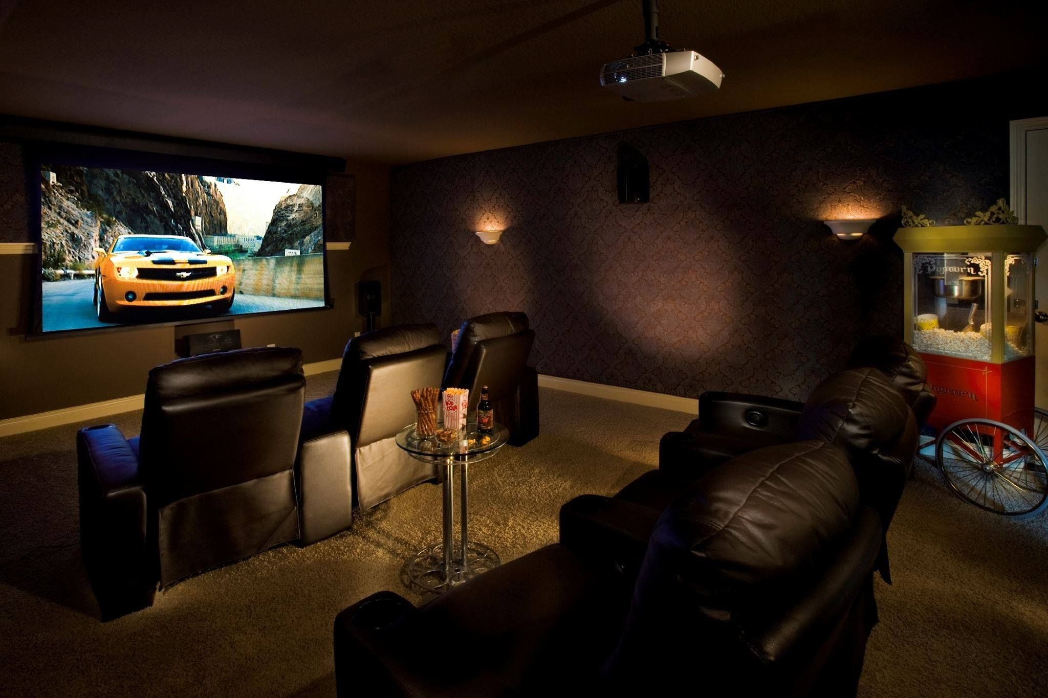 How to make home theater room - Make Your Family Room Or Man Cave The Best Room In The House With Reclining Theater
