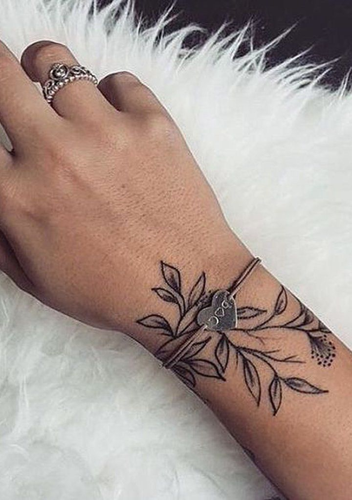 Floral Bracelet Wrist Tattoo Designs: 30 Delicate Flower Tattoo Ideas
