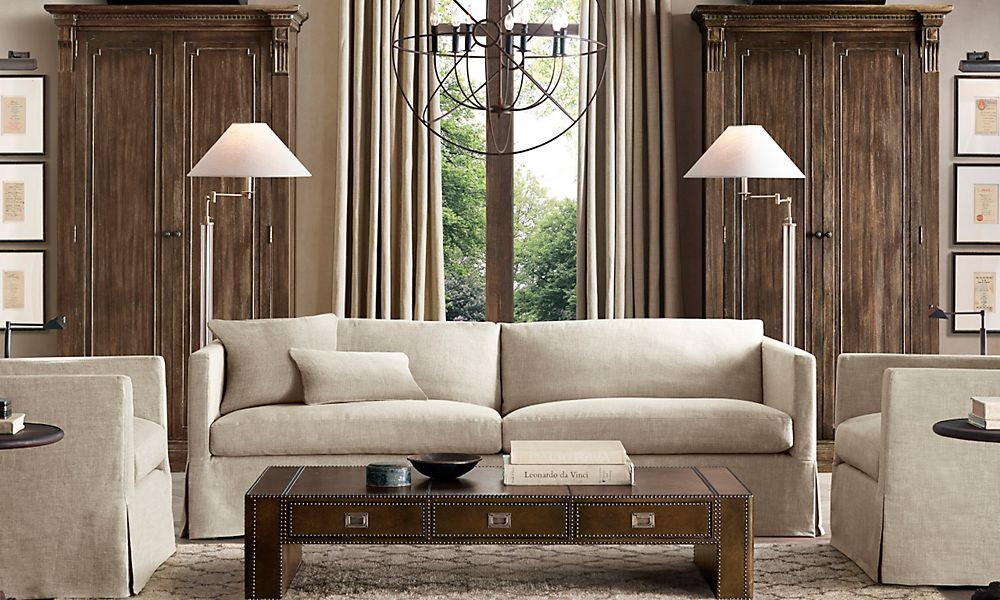 French column glass swing arm floor lamp polished nickel