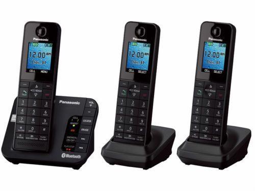 Panasonic Kx Tgh263b 3 Handset Bluetooth Cordless Phone System W Color Lcd Cordless Phone Handset Phone