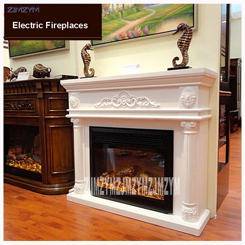 Gf163 Living Room Decoration Heating Fireplace W120cm Wooden Shelf
