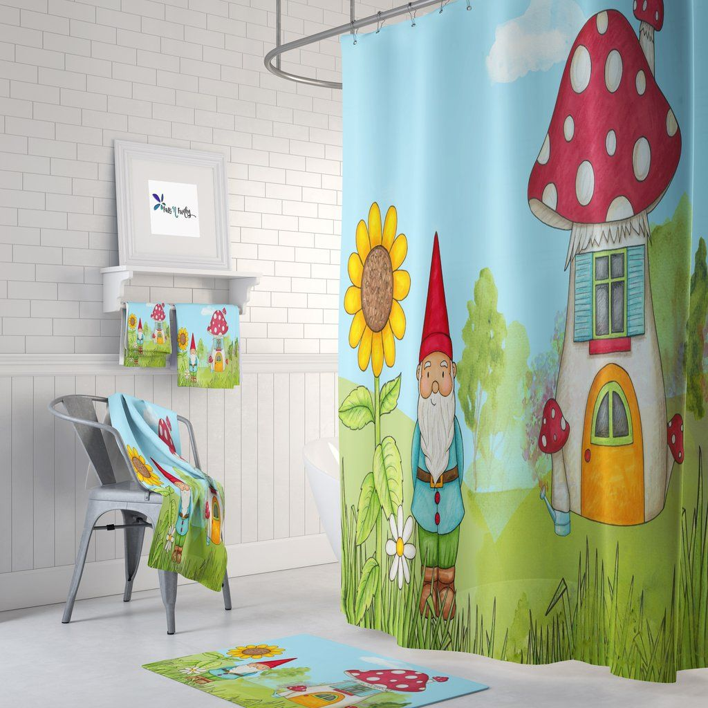 Gnome And Home Shower Curtain Bath Towel Set Shower Curtain