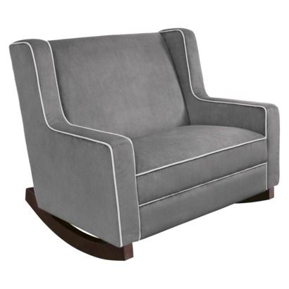 chair and half glider rocker sit me up eddie bauer grey because i will usually have a helper wanting to snuggle the babe as well