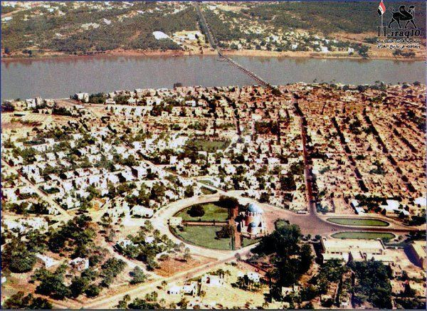 Iraq Baghdad Aerial Image For Al Adhamiya City In 1955