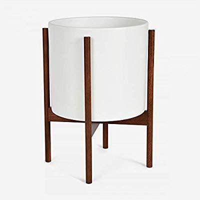 Amazon Com Case Study Ceramic Planter With Wood Stand 400 x 300