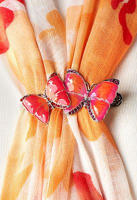 Claire Butterfly Scarf Clip.Claire Butterfly Scarf Clip #CBFallFavorites