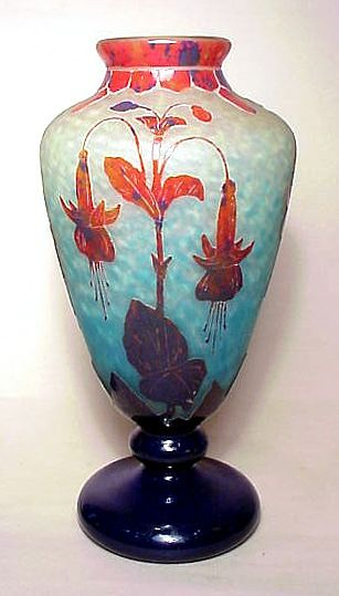 Le Verre Francais Vase By Charles Schneider French Art Glass