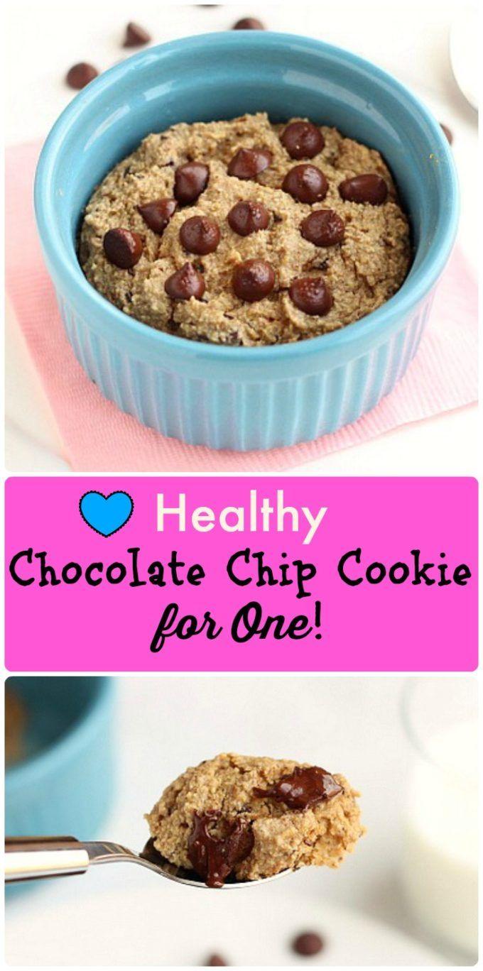 Vegan Chocolate Chip Cookie In A Mug
