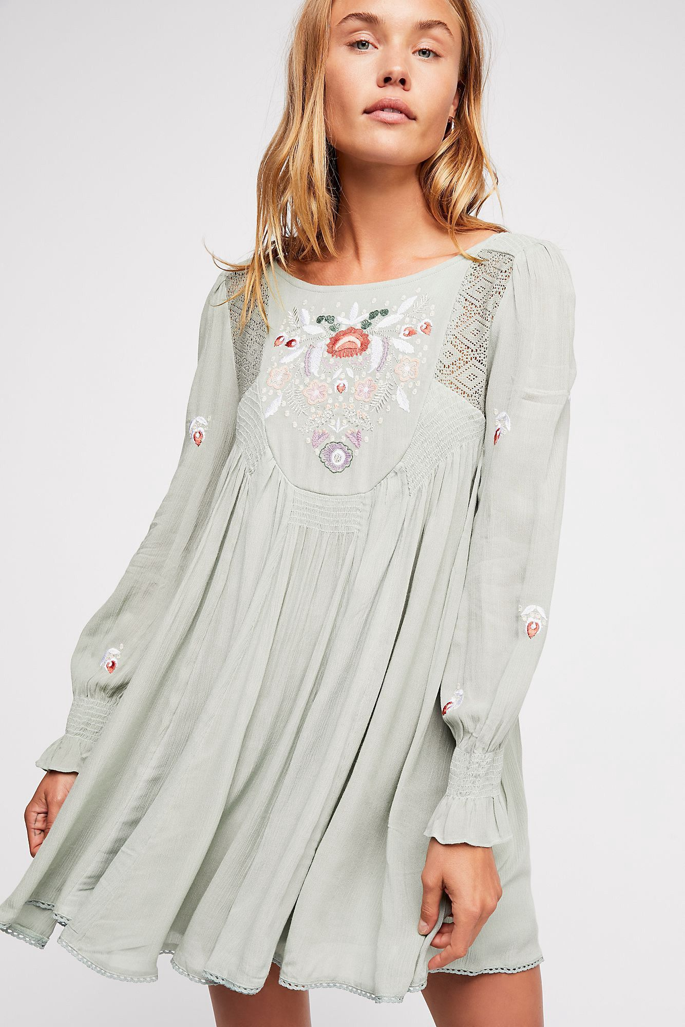 Moya embroidered mini dress by free people in products